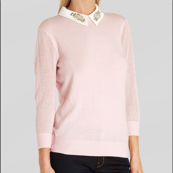803fce903c8 Used Ted Baker Sweater Helane Embellished Collar. M 5ad103969a945565bd669351